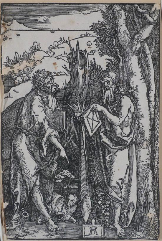Albrecht Dürer (German 1471-1528), St. John the Baptist and St. Onuphrius in the Wilderness