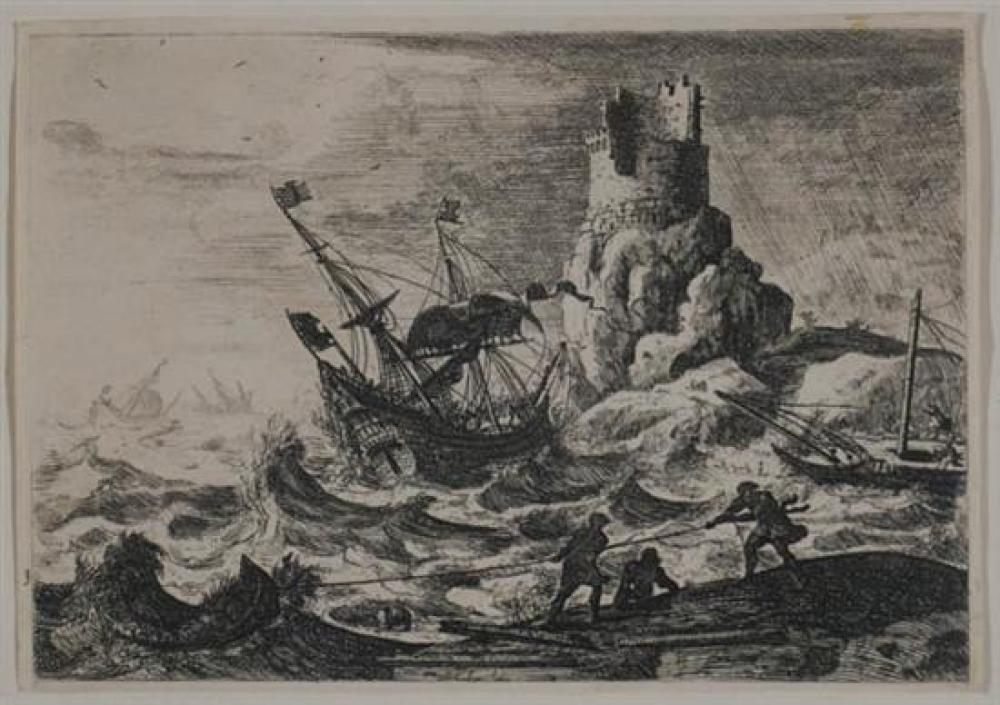 After Claude Lorrain (French 1600-1682), Shipwreck After Storm