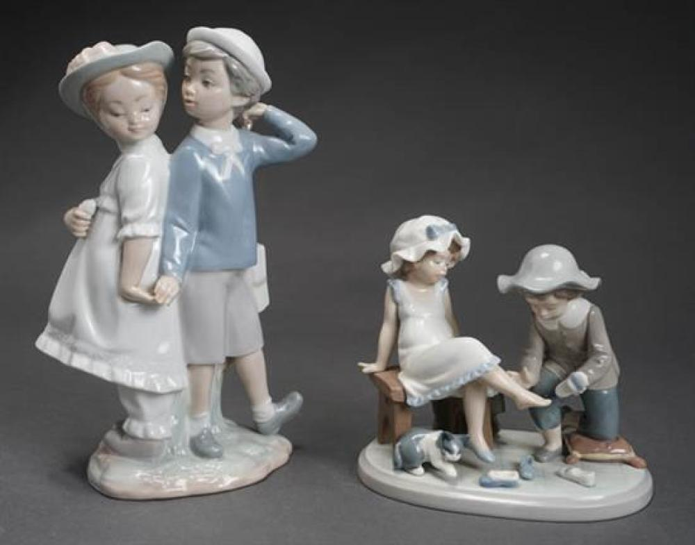 Two Lladró figures of 'Puppy Love' and 'Try This One' Post 1950