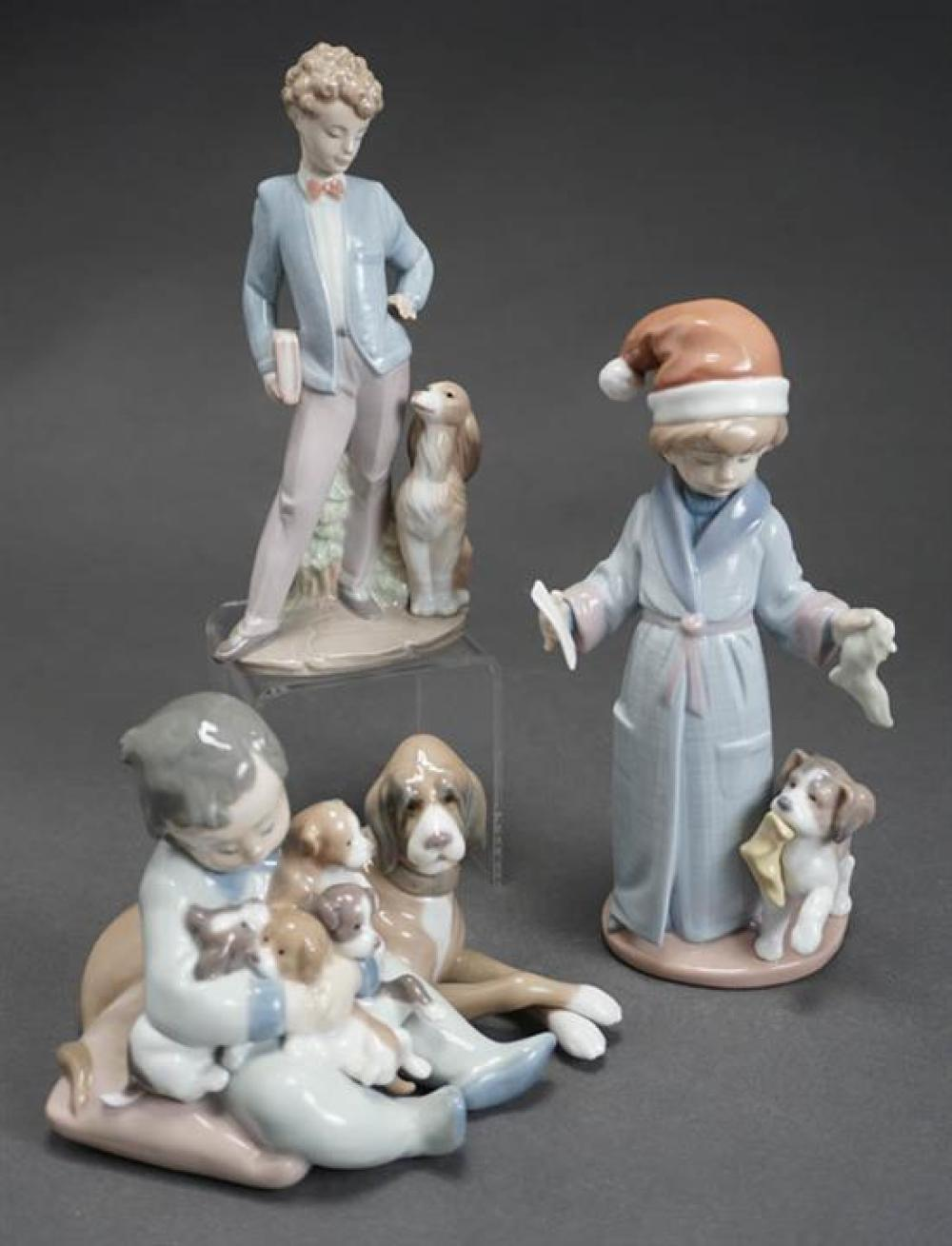 Three Lladró Figures of 'New Playmates', 'Dear Santa' and 'Sunday's Child' Post 1950