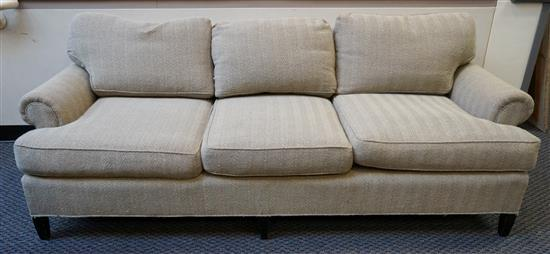 Contemporary Gray Upholstered Sofa, Height: 29 in, Width: 84 in, Depth: 38 in