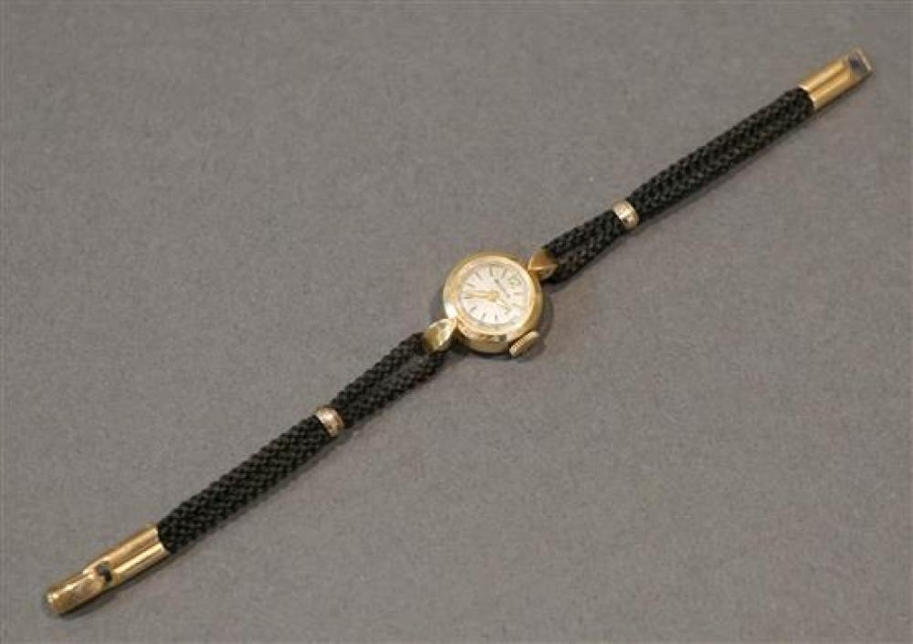Ladies 14 Karat Yellow Gold Case Manual Wind Wristwatch