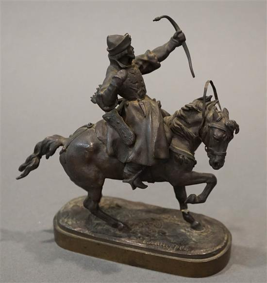 After Evgeni Androvich, On Horseback, Bronze Sculpture