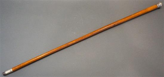 English Silver Mounted Walking Stick