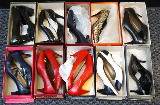 Collection of Vaneli, Anne Klein, Yves Saint Laurant, and other Designer Shoes, Size 9