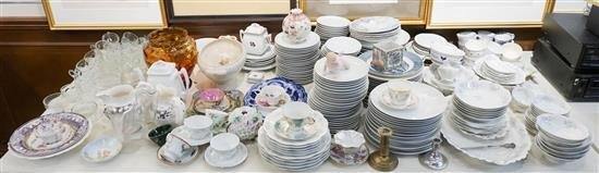 Collection with Domestic and European Porcelain, Pressed Glassware and other Articles