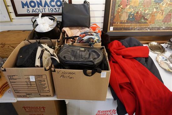 Four Boxes of Assorted Ladies Clothing and Purses