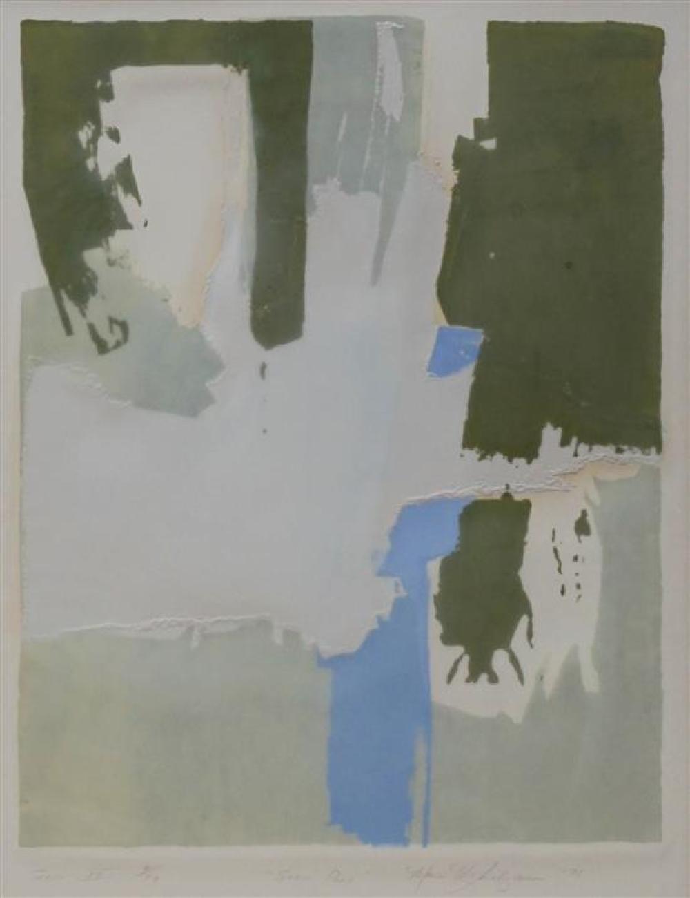 Marian Van Landingham (American b. 1937), Snow Peas, Mixed Media Print, Frame: 31 x 24-1/2 in