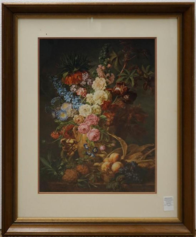 Dutch Still Life, Chromolithograph, Frame: 32-1/2 x 28-1/2 in