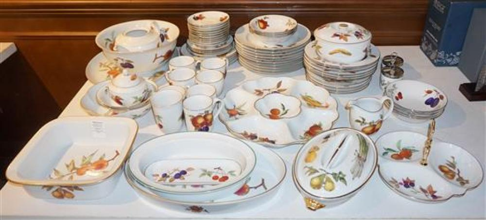 Royal Worcester Evesham Pattern Seventy-Three Piece Porcelain Dinner Service