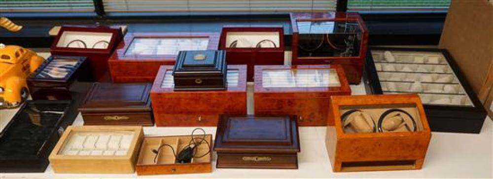 Collection of Watch and Jewelry Display Cases