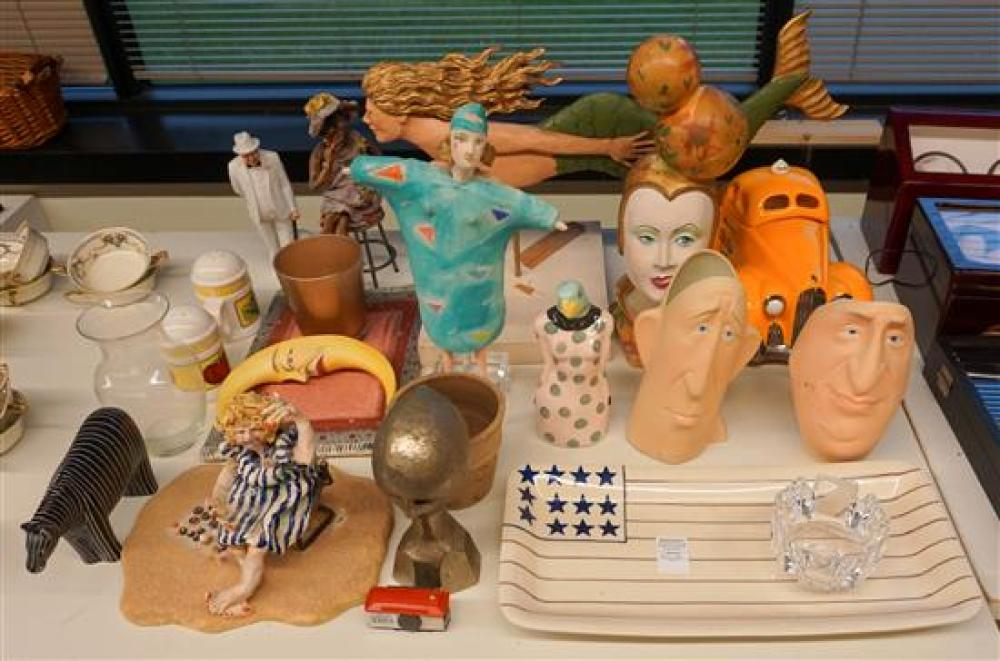 Collection of Sculptures, Porcelain and Glassware