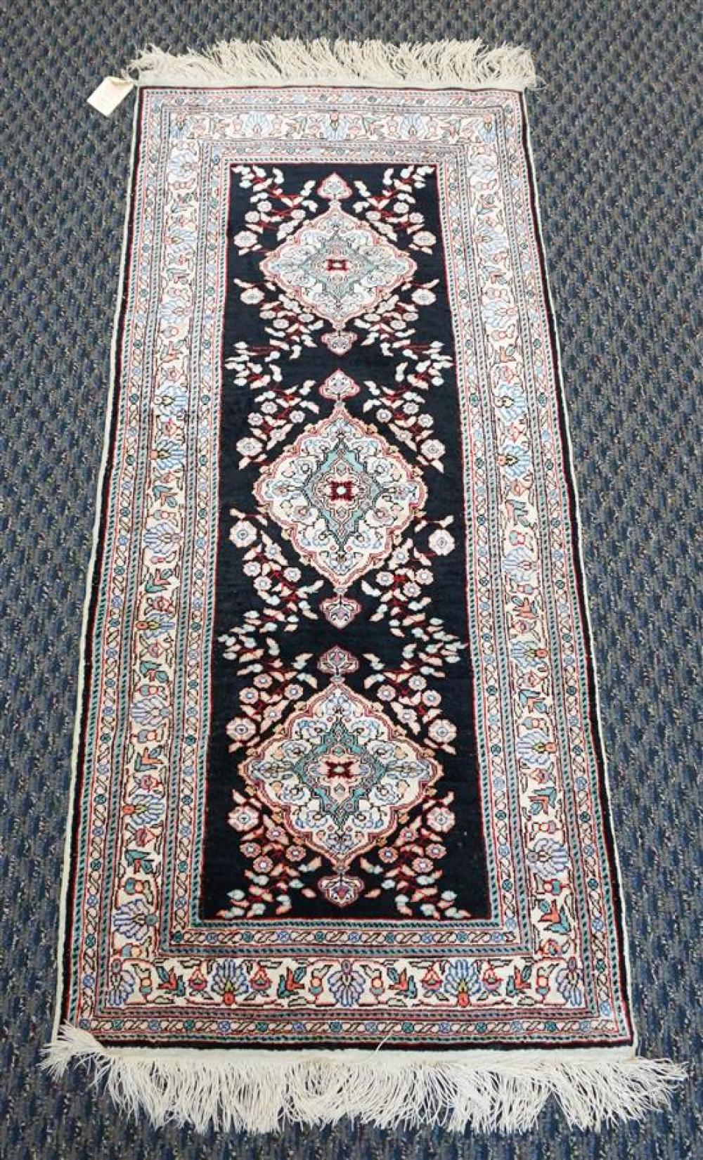 Chinese Partial Silk Rug, 4 ft 1 in x 1 ft 9 in