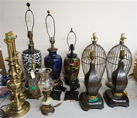 Group of Thirteen Assorted Table Lamps