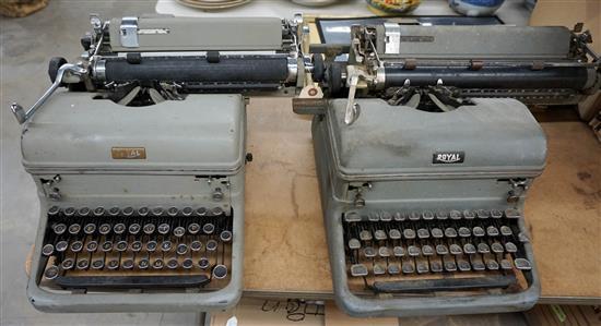 Two Vintage Royal Typewriters