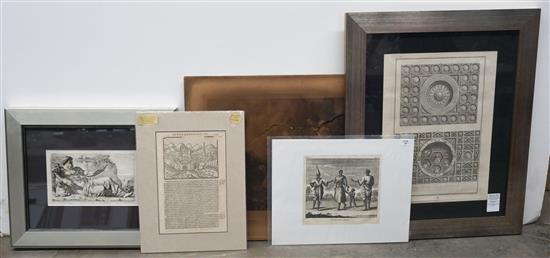 Group with Framed and Unframed Engravings of Illuminated Manuscript Pages, Prints and other Artwork