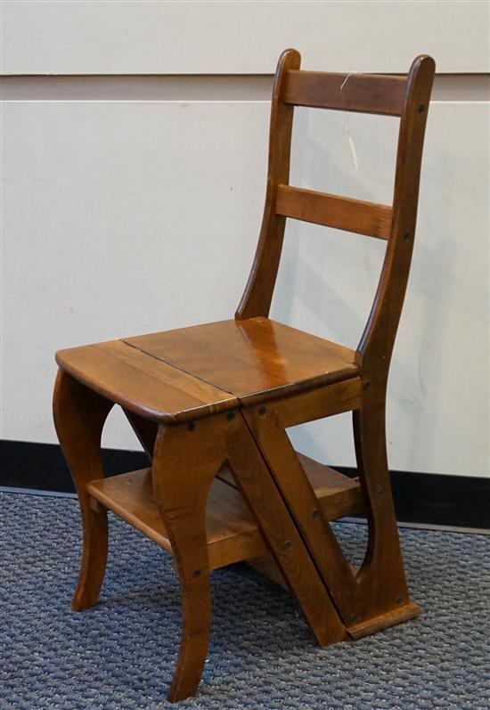 Fruitwood Metamorphic Library Chair