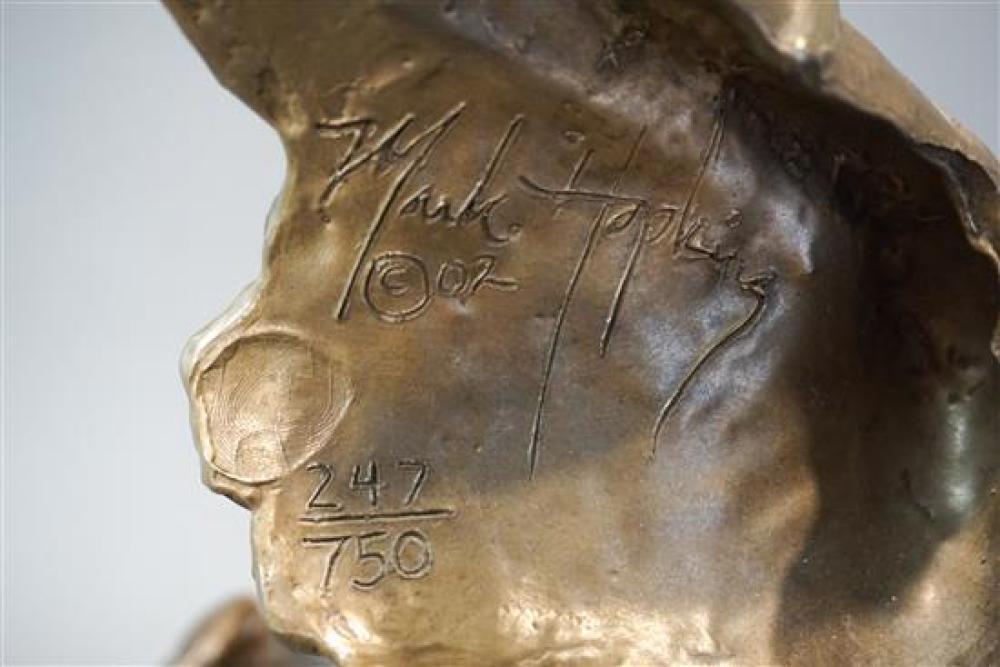 Mark Hopkins, Giraffe and Child, Bronze, 247/750, Height: 22-1/2 in
