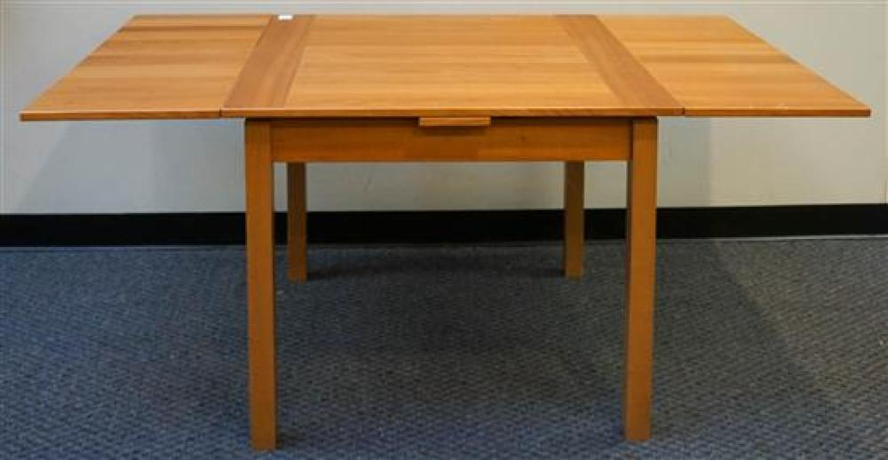 Gangso Danish Cherry Refectory Top Dining Table, Height: 30 in, Square Top: 35-1/2 in