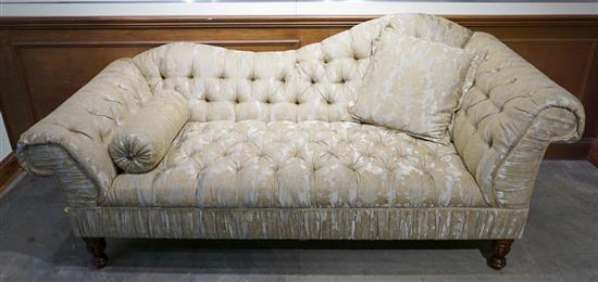Contemporary Upholstered Chaise/Sofa, Width: 85 in