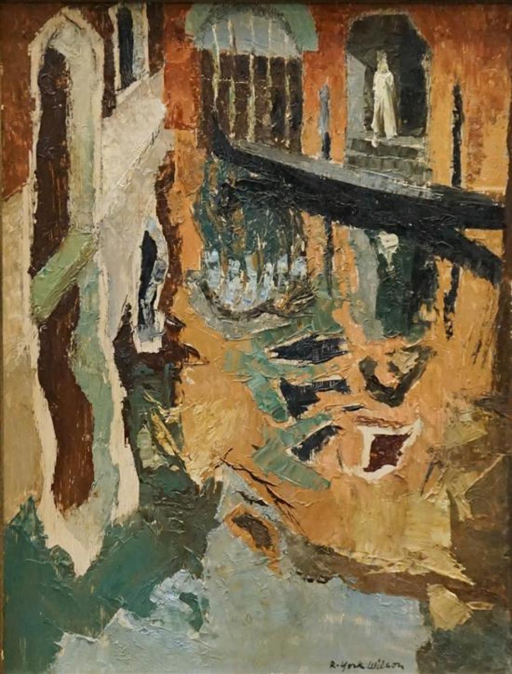 Ronald York Wilson (Canadian 1907-1984), Venetian Reflections, Acrylic on Panel, Frame: 18-1/4 x 14-1/2 in