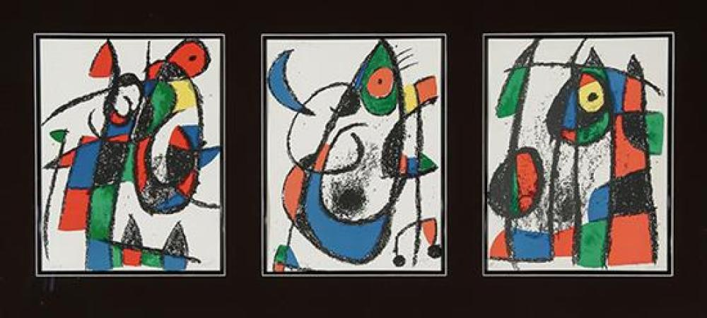 Joan Miró (Spanish 1893-1983), Lithographs II (Maeght 1038, 1043 and 1047)