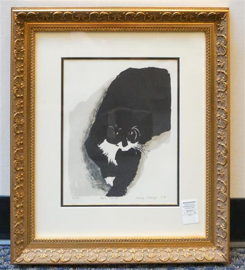 Nancy McIntyre, Pap's Cat #2, Color Lithograph, Frame: 22 x 19-1/4 in