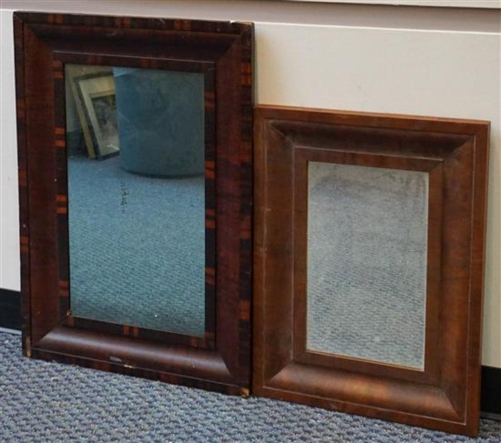 Two Mahogany Ogee Frame Mirrors, Largerst: 33 x 22-1/2 inches