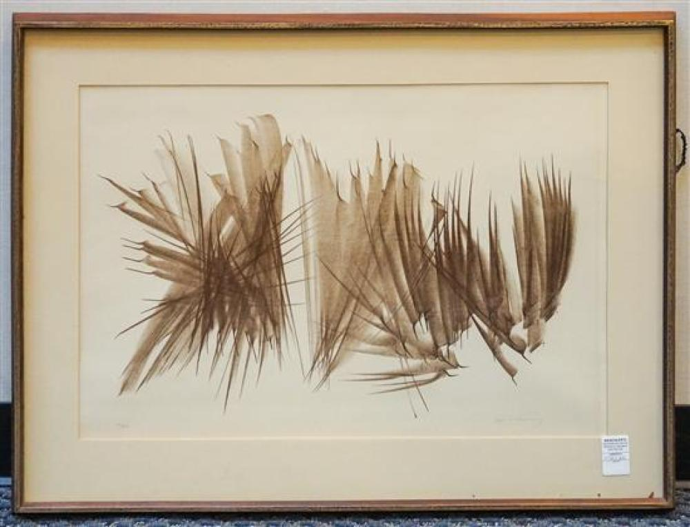 Hans Hartung (French/German 1904-1989), Composition #118, Lithograph on Paper, Ed #71/100, Frame: 26-1/2 x 34 in