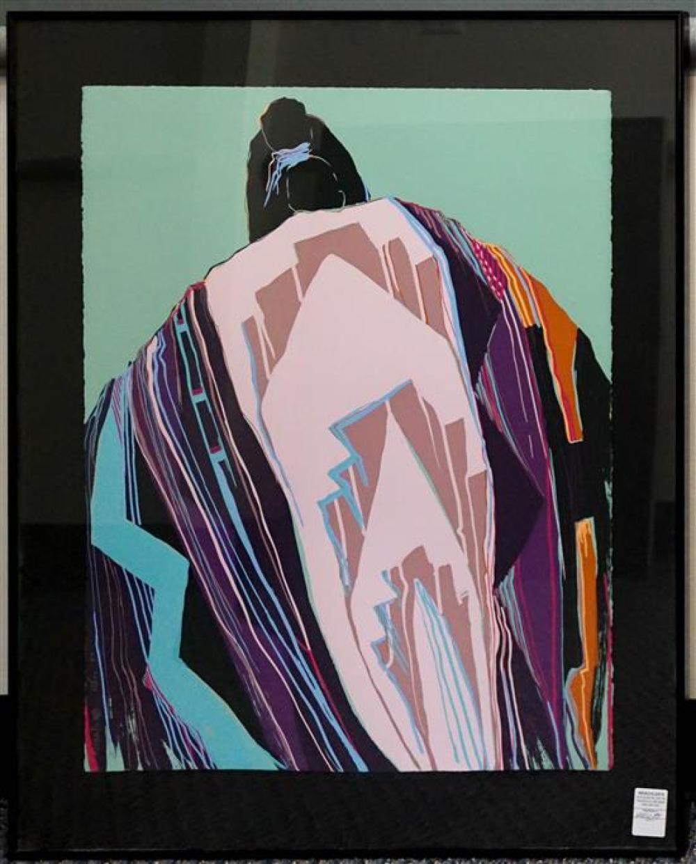 Dolona Roberts, 20th Century, Blanket, Serigraph, Frame: 36 x 29 inches