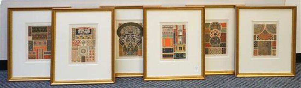 Collection of Six Roman Architectural Prints