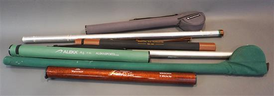 Ross B. Kenzu (#9-10), LL Bean, MHX, Wright and McGill, Aleska and other Flyfishing Rods (7 rods)