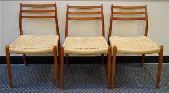 Set with Three Danish Teak 'Model 78' Side Chairs
