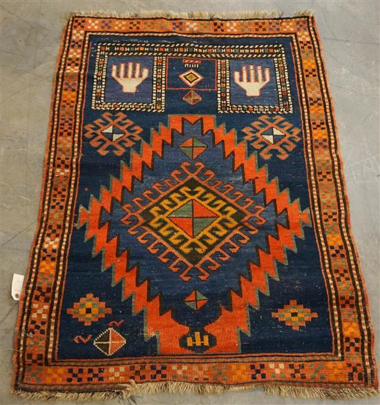 Kazak Prayer Rug, 4 ft 1 in x 3 ft