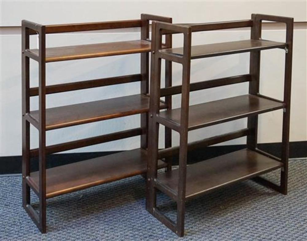 Pair Fruitwood Folding Shelves, Height: 37 in, Width: 27-1/2 in
