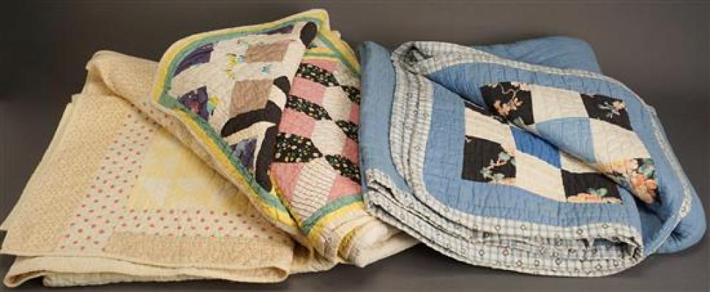 Three Applique Patch Quilts