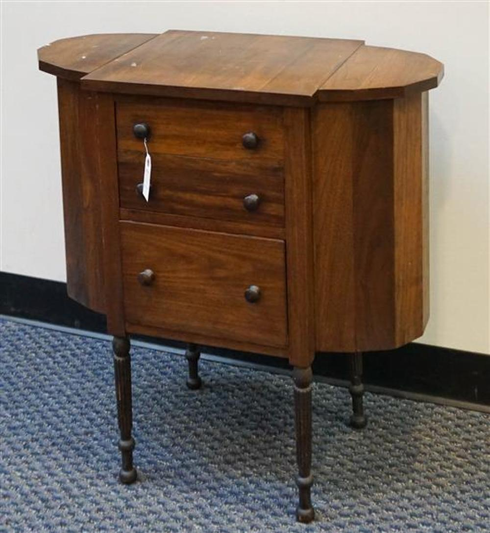 Federal Style Walnut Martha Washington Style Sewing Cabinet