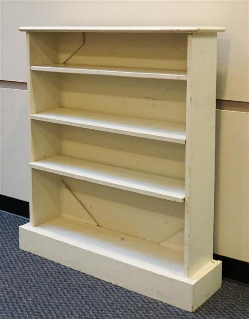 White Painted Pine Open Shelf