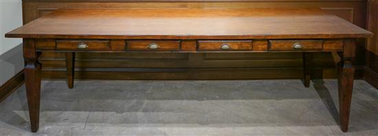 J. Peterman 3000 Stained Pine Table H: 31-1/2 in W: 102-1/4 in, D: 31-1/2 in