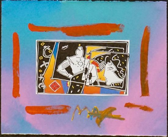 Peter Max (American b. 1937), Untitled, Mixed Media, Frame: 22-1/2 x 24-1/2 inches