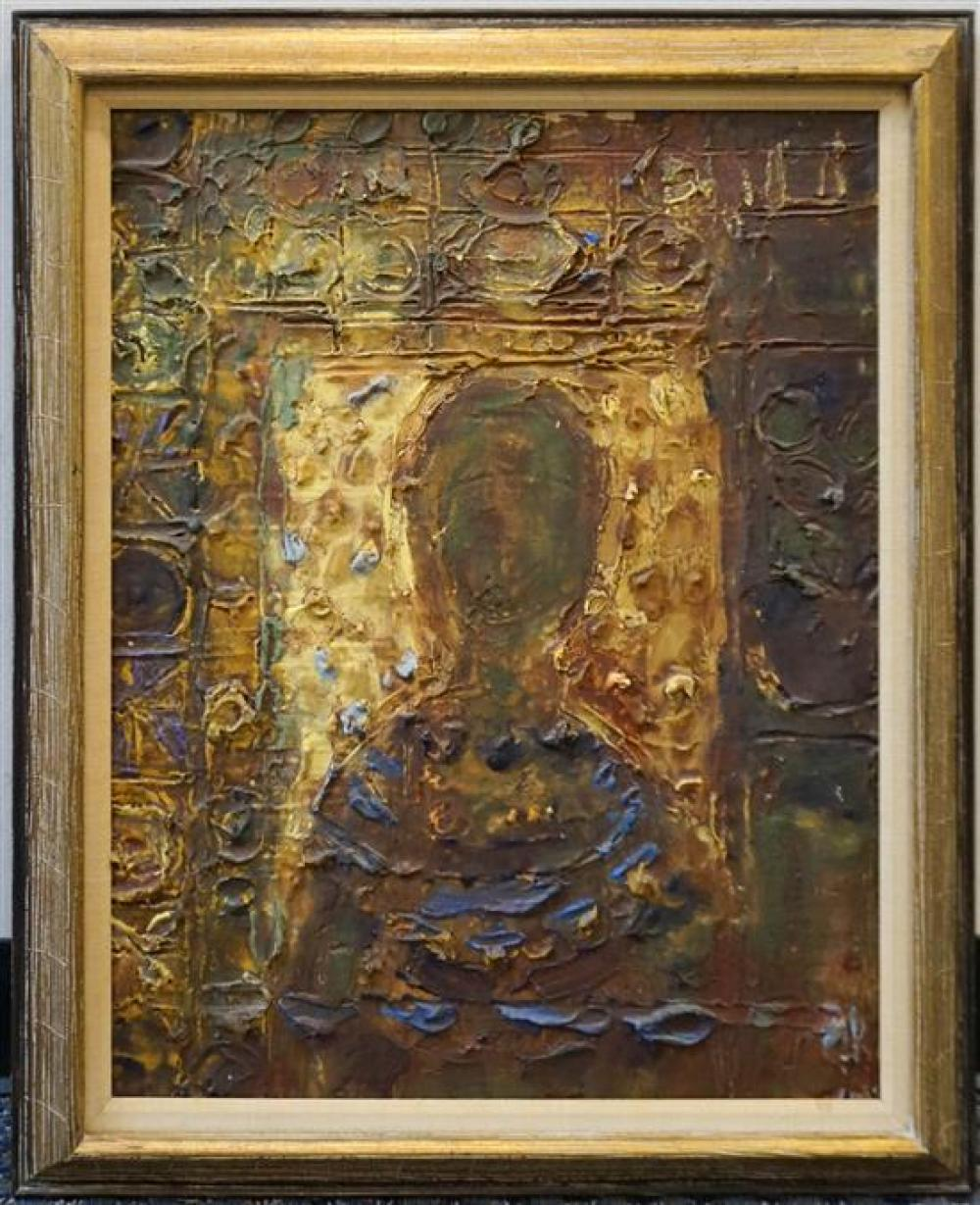 Unknown Contemporary Artist, Untitled Abstract, Heavy Impasto on Board, Frame: 31 x 25-1/2 in