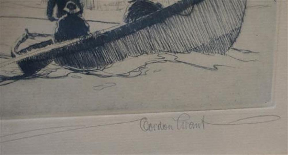 Gordon Hope Grant (American 1875-1962), The Channel Buoy, Etching, Frame: 15 x 19 in