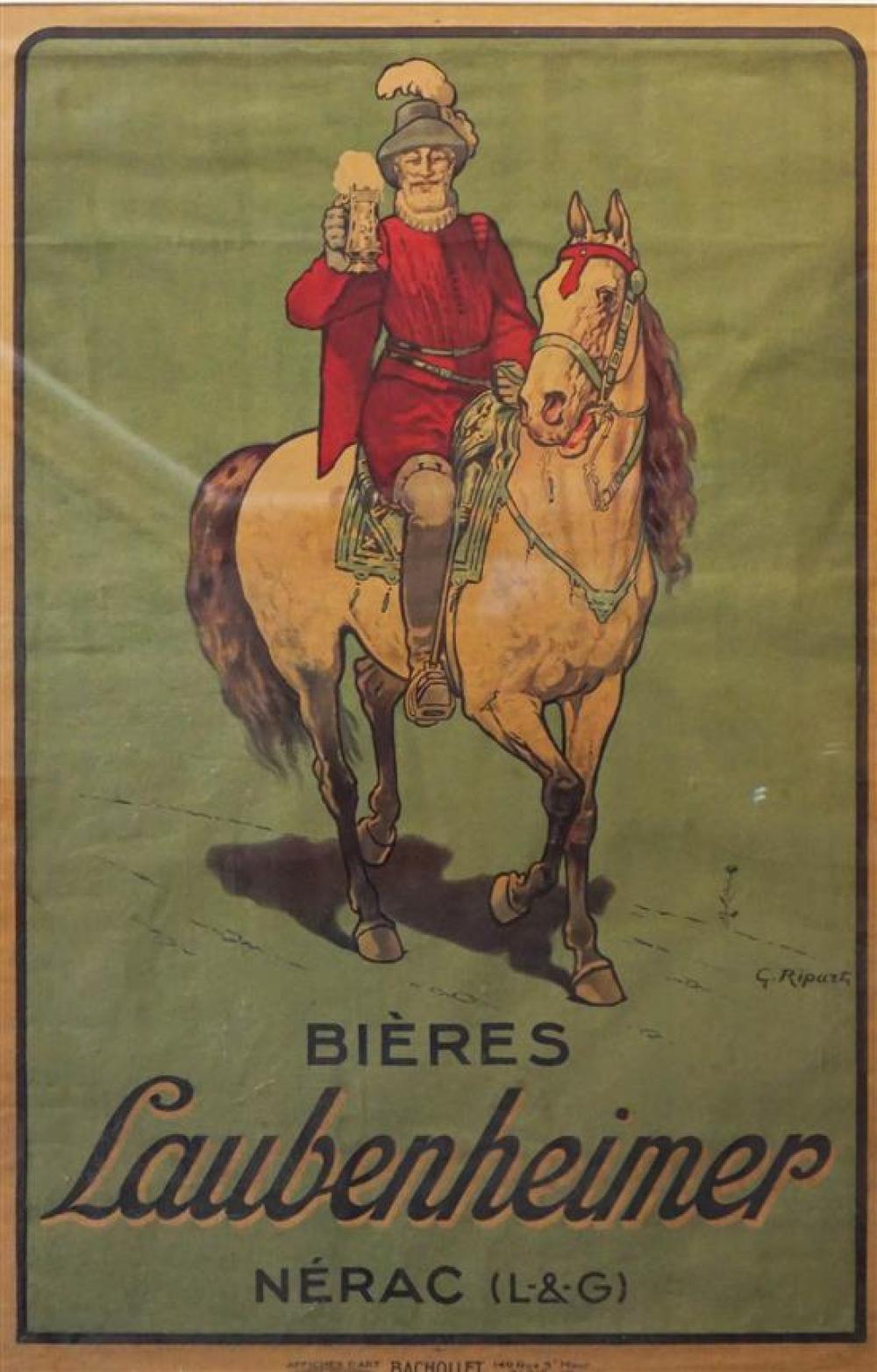 Bieres Laibenheimer Poster, 52 x 35 inches