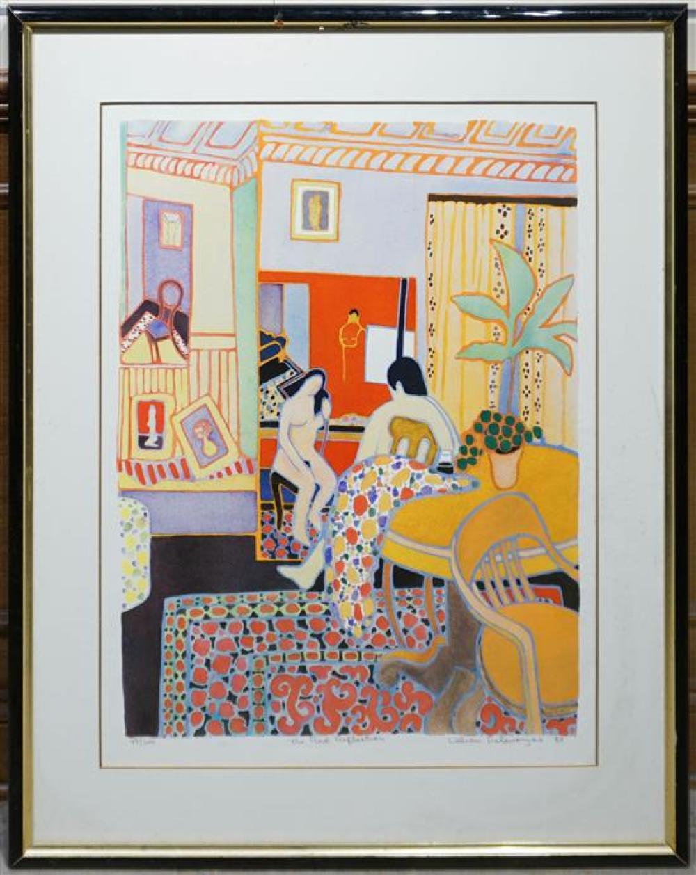 William Delevorysa(?), The Red Reflection, Serigraph, 49/200, Frame: 39-1/2 x 31-3/4 in