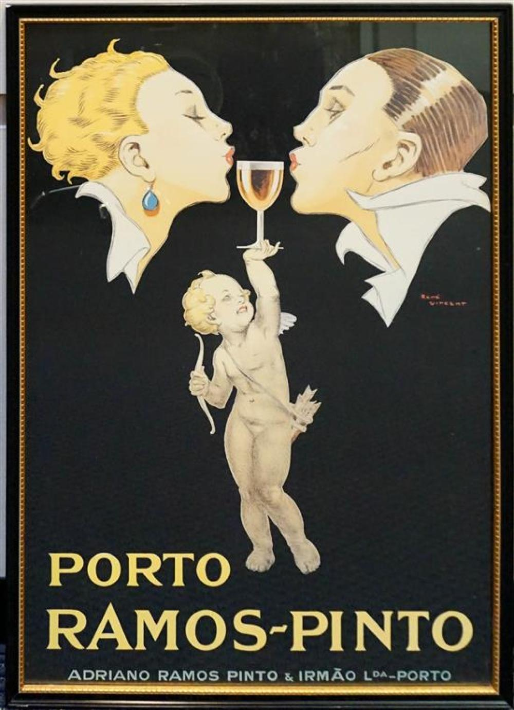 Framed Porto Ramos-Pinto Reproduction Poster, Frame: 40 x 28-1/2 in
