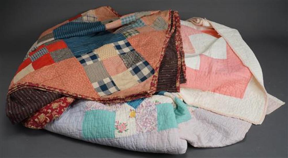 Three Aplique Patch Quilts
