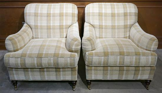 Pair Edward Farrell Ltd. Upholstered Lounge Chairs