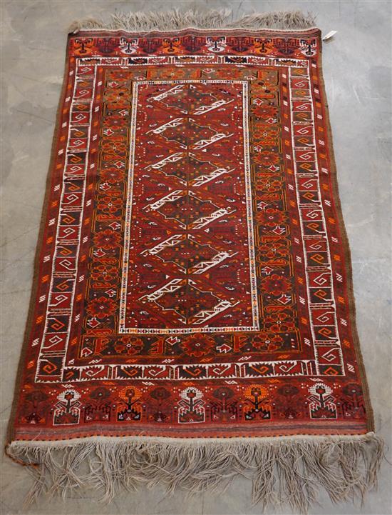 Afghan Rug, 6 ft 4 in x 3 ft 9 in