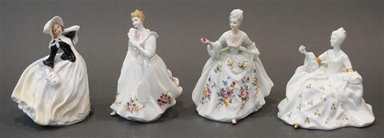 Four Royal Doulton Porcelain Figurines