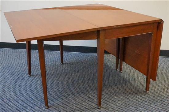 Federal Style Cherry Drop-Leaf Dining Table, H: 31 in, W: 46 in, D: 26-3/4 in
